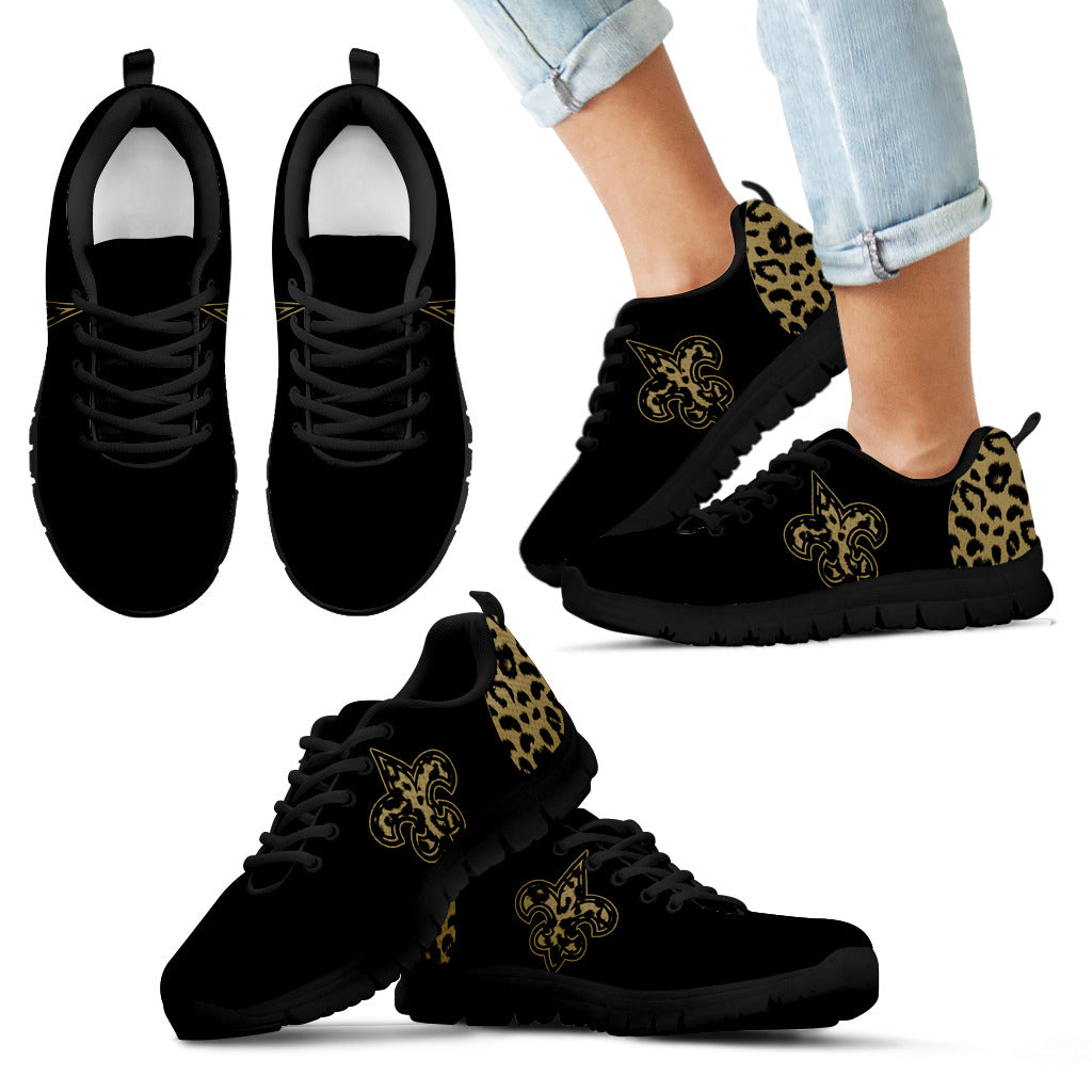 Cheetah Pattern Fabulous New Orleans Saints Sneakers