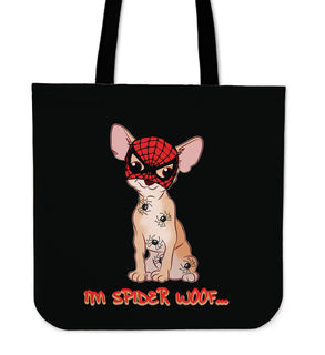 I'm Spider Woof Chihuahua Tote Bags