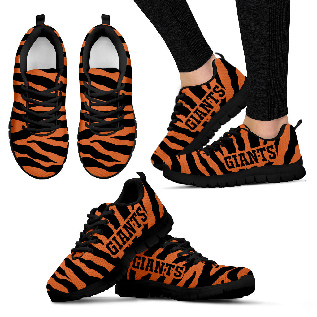 Tiger Skin Stripes Pattern Print San Francisco Giants Sneakers