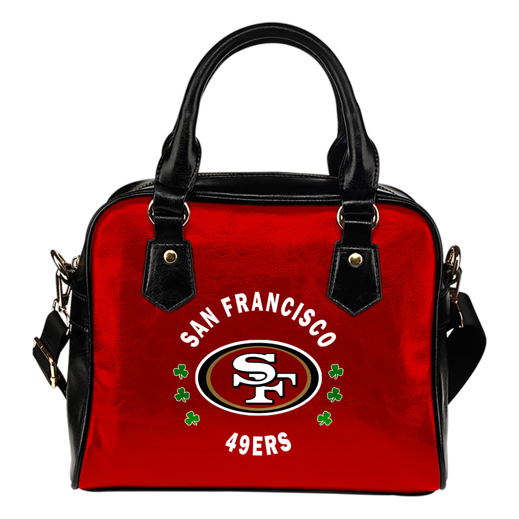 Central Beautiful Logo Circle Lucky Leaf San Francisco 49ers Shoulder Handbags
