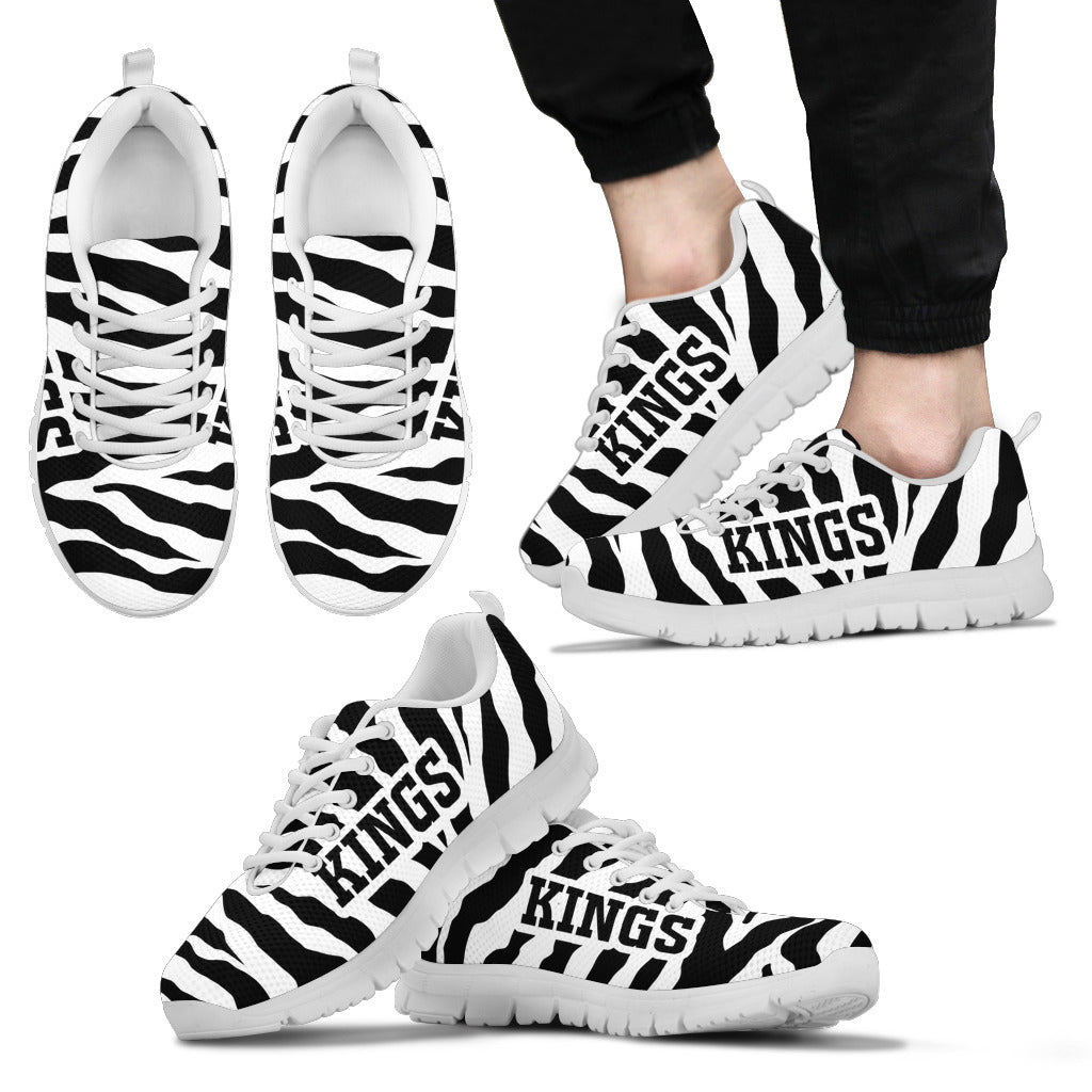 Tiger Skin Stripes Pattern Print Los Angeles Kings Sneakers