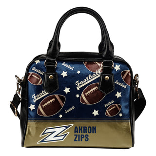 Personalized American Football Awesome Akron Zips Shoulder Handbag