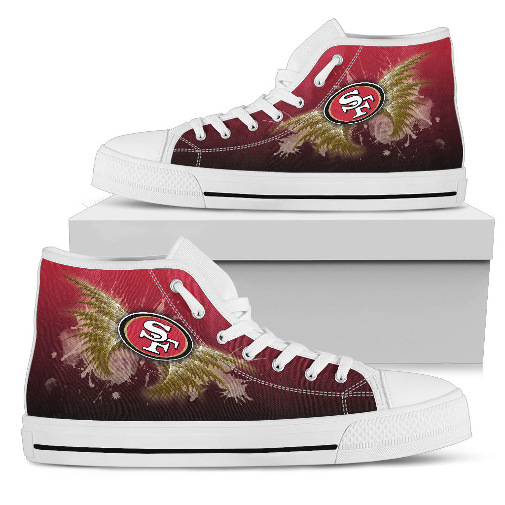 Angel Wings San Francisco 49ers High Top Shoes