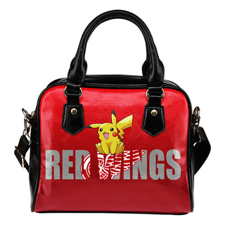 Pokemon Sit On Text Detroit Red Wings Shoulder Handbags