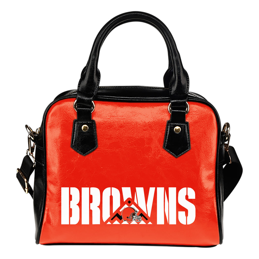 Cleveland Browns Mass Triangle Shoulder Handbags