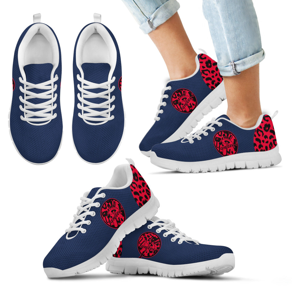 Cheetah Pattern Fabulous New York Yankees Sneakers