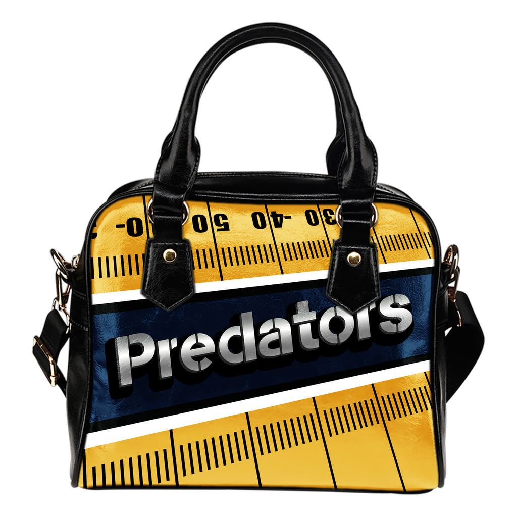 Nashville Predators Silver Name Colorful Shoulder Handbags
