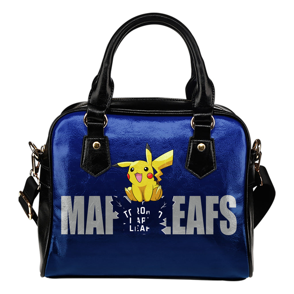 Pokemon Sit On Text Toronto Maple Leafs Shoulder Handbags