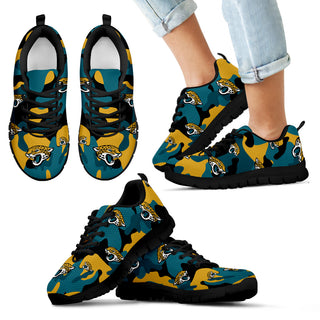 Jacksonville Jaguars Cotton Camouflage Fabric Military Solider Style Sneakers