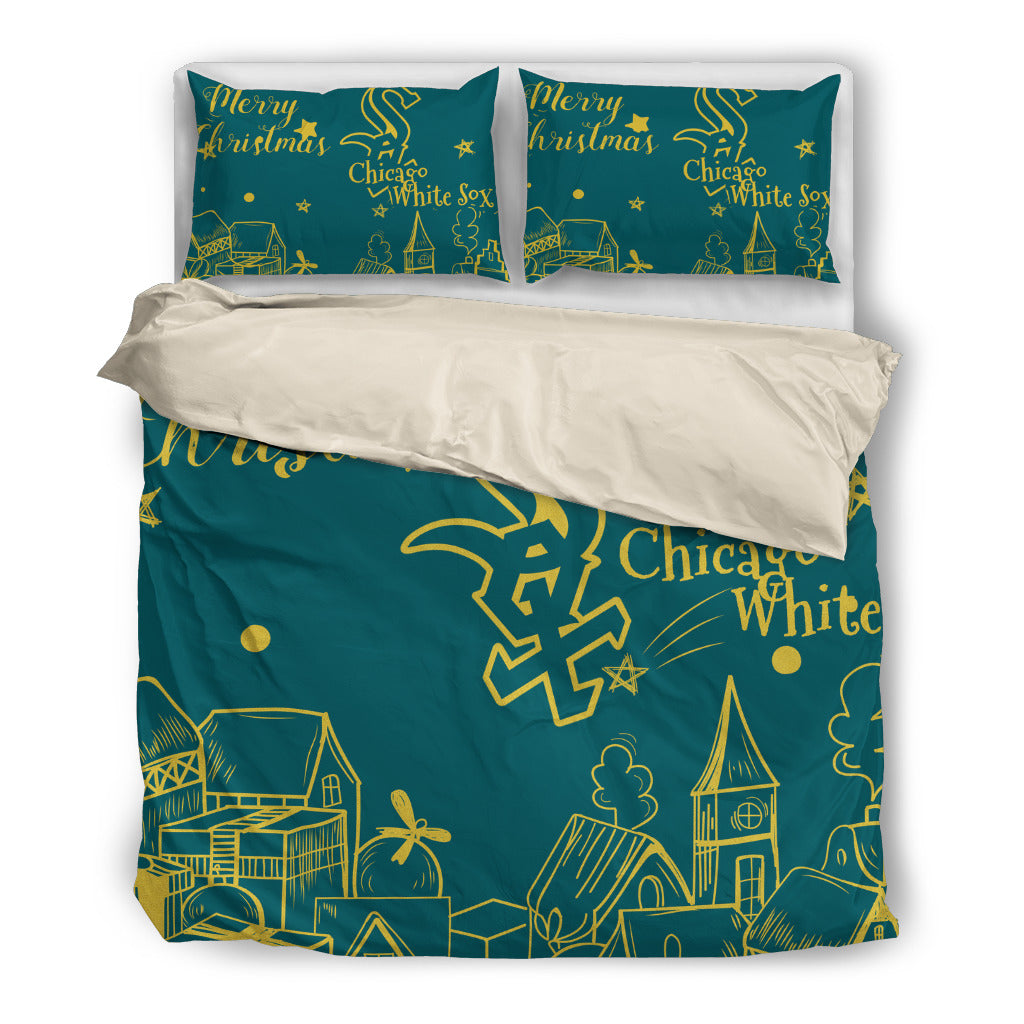 Nice Present Comfortable Christmas Chicago White Sox Bedding Sets
