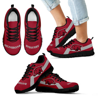 Arkansas Razorbacks Line Logo Sneakers