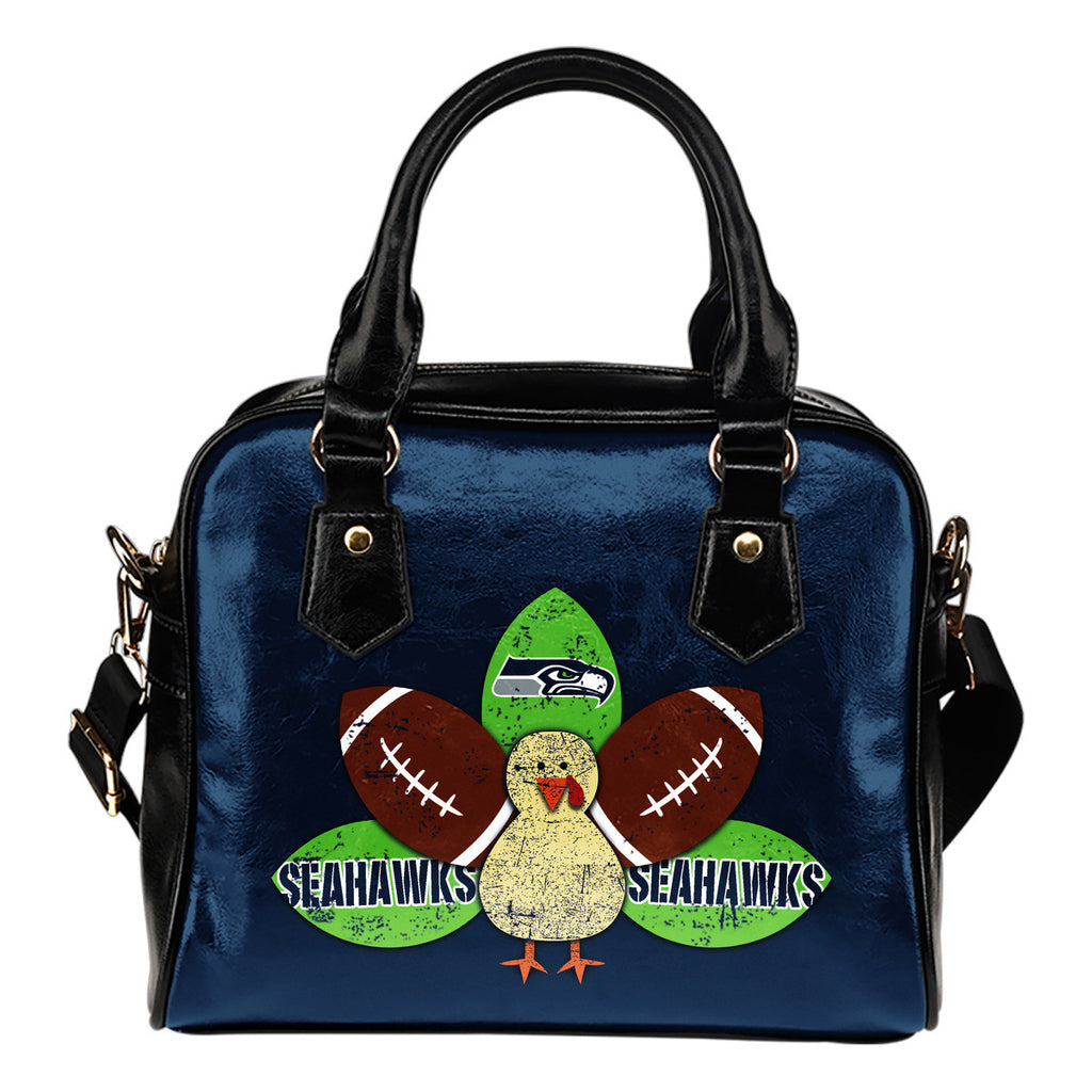 Thanksgiving Seattle Seahawks Shoulder Handbags - Best Funny Store
