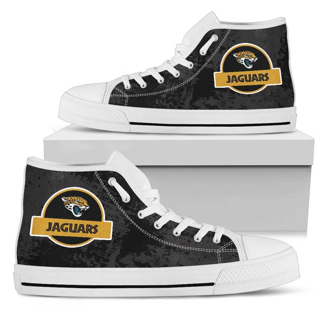 Jurassic Park Jacksonville Jaguars High Top Shoes