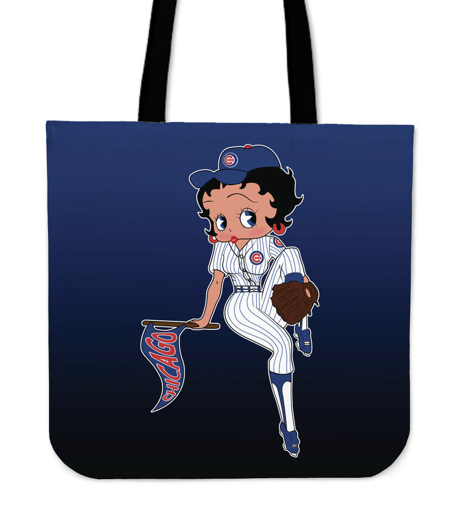 BB Baseball Chicago Cubs Tote Bags
