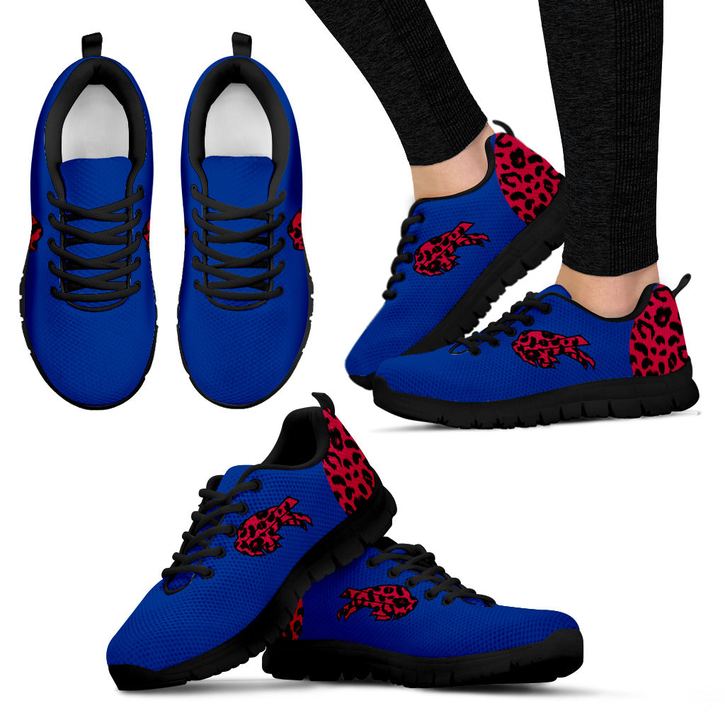 Cheetah Pattern Fabulous Buffalo Bills Sneakers