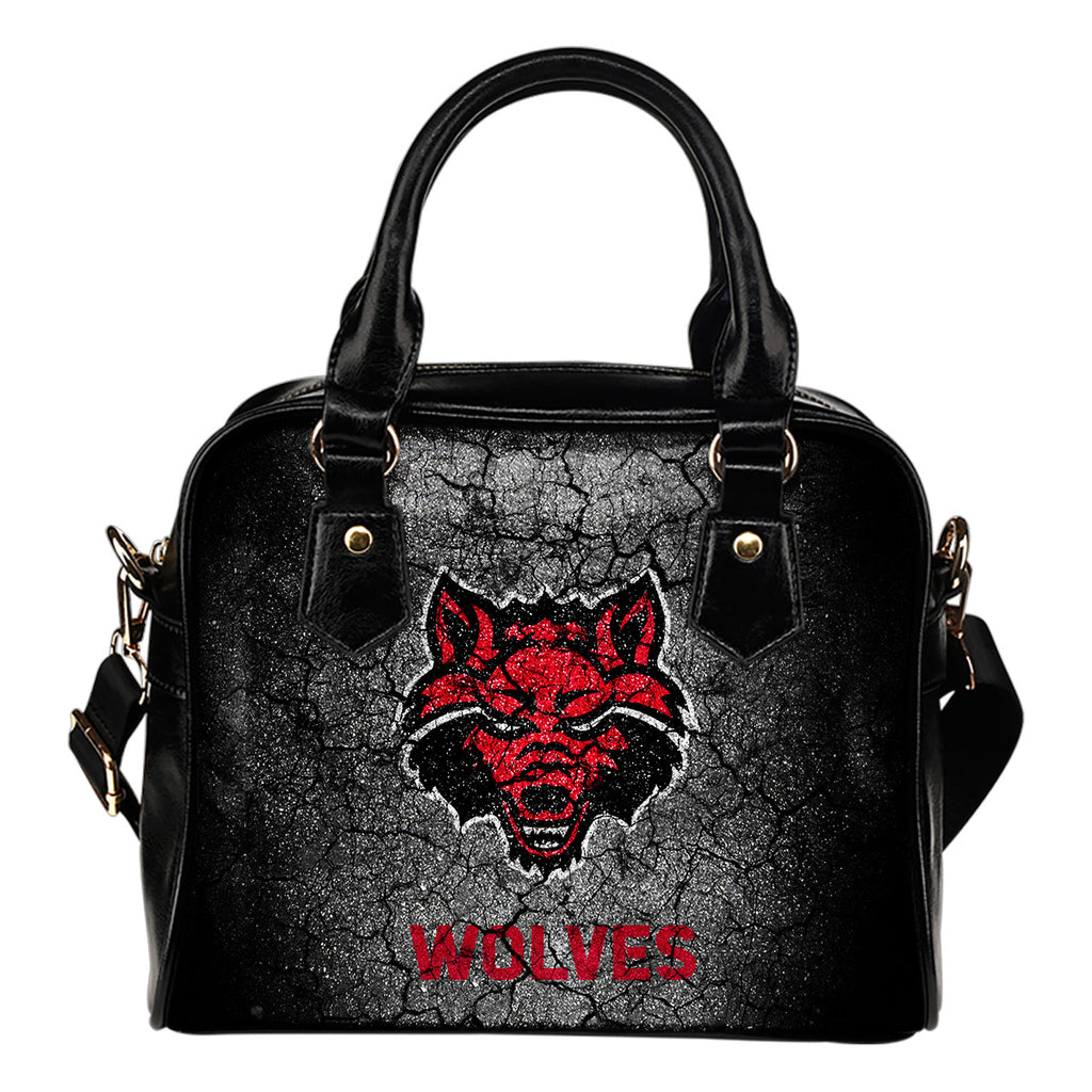 Wall Break Arkansas State Red Wolves Shoulder Handbags Women Purse