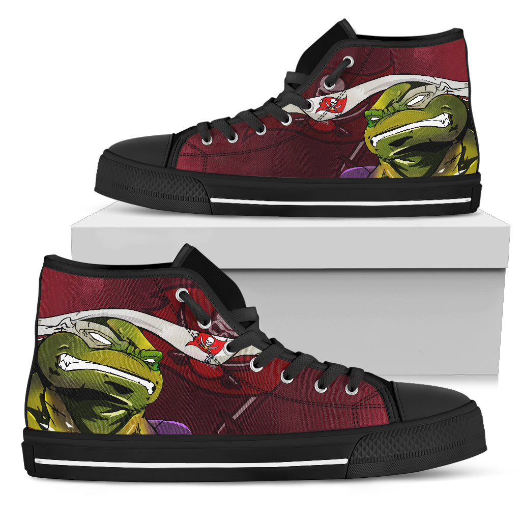 Turtle Tampa Bay Buccaneers Ninja High Top Shoes