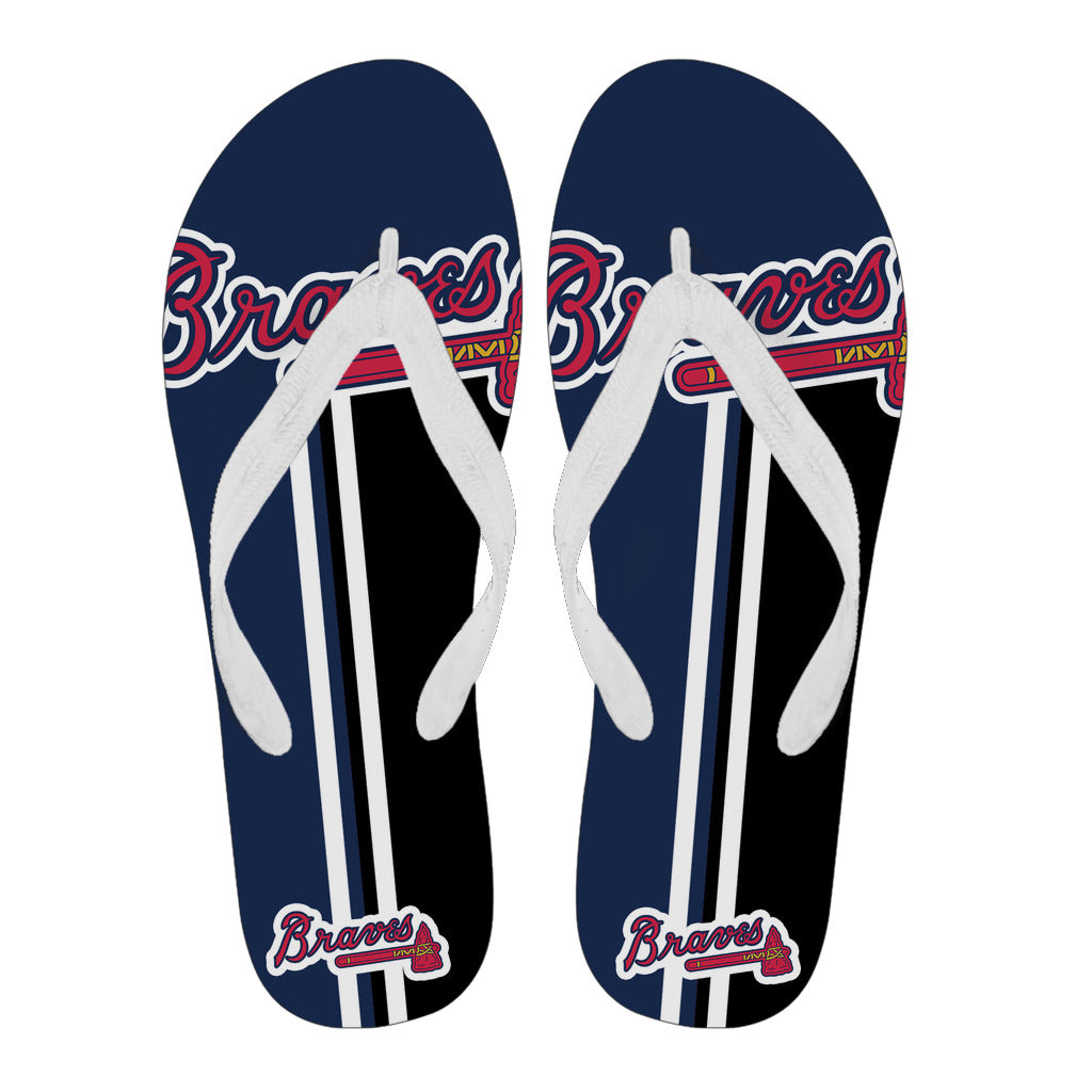 c20c544c1f55e Atlanta Braves Fan Gift Two Main Colors Flip Flops – Best Funny Store