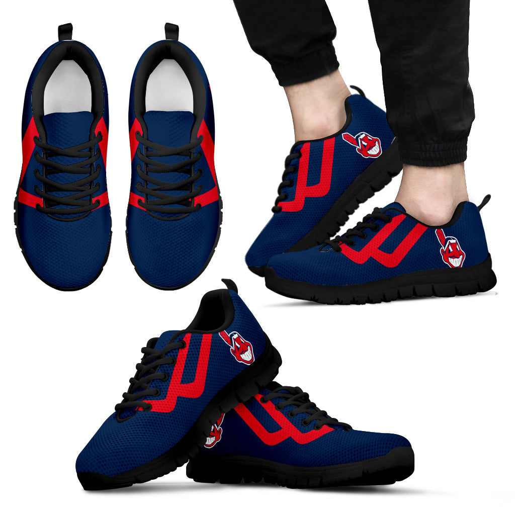 Line Bottom Straight Cleveland Indians Sneakers