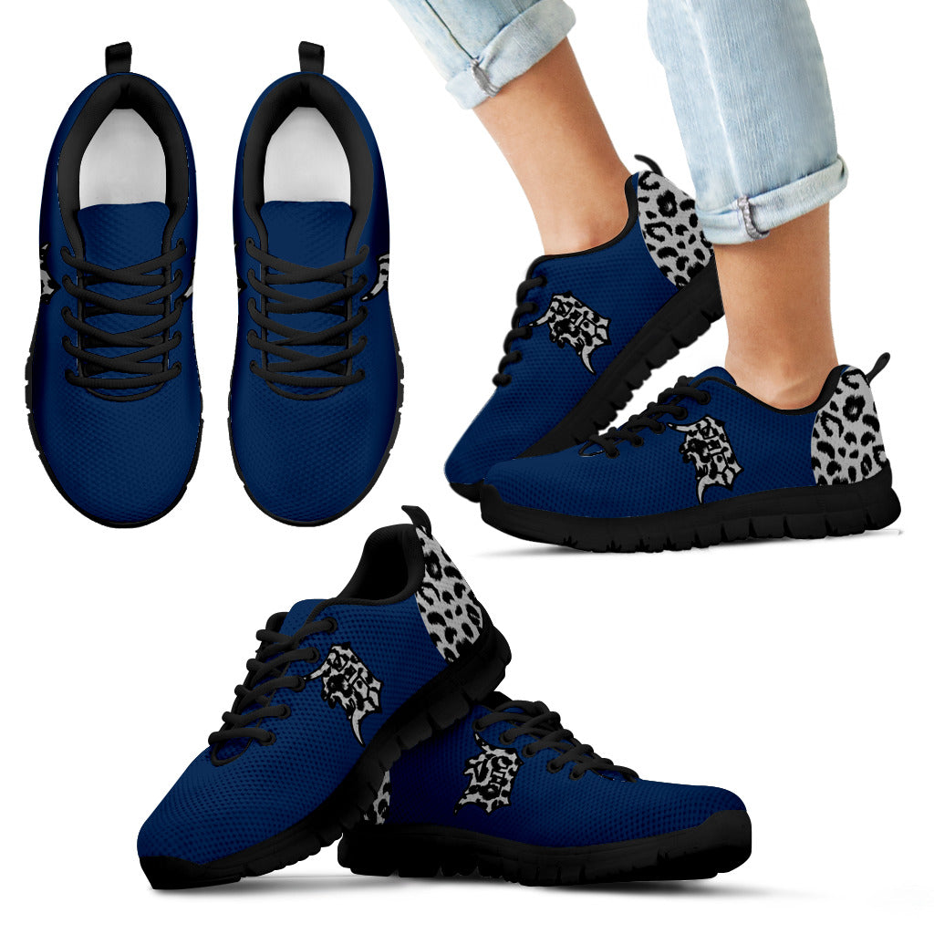 Cheetah Pattern Fabulous Detroit Tigers Sneakers