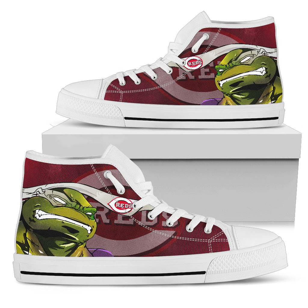 Turtle Cincinnati Reds Ninja High Top Shoes
