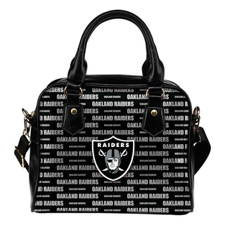 Nice Little Logo Oakland Raiders Shoulder Handbags