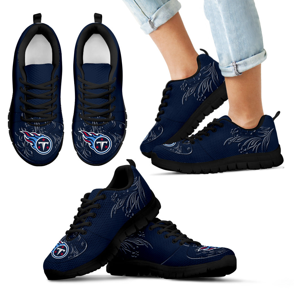 Lovely Floral Print Tennessee Titans Sneakers