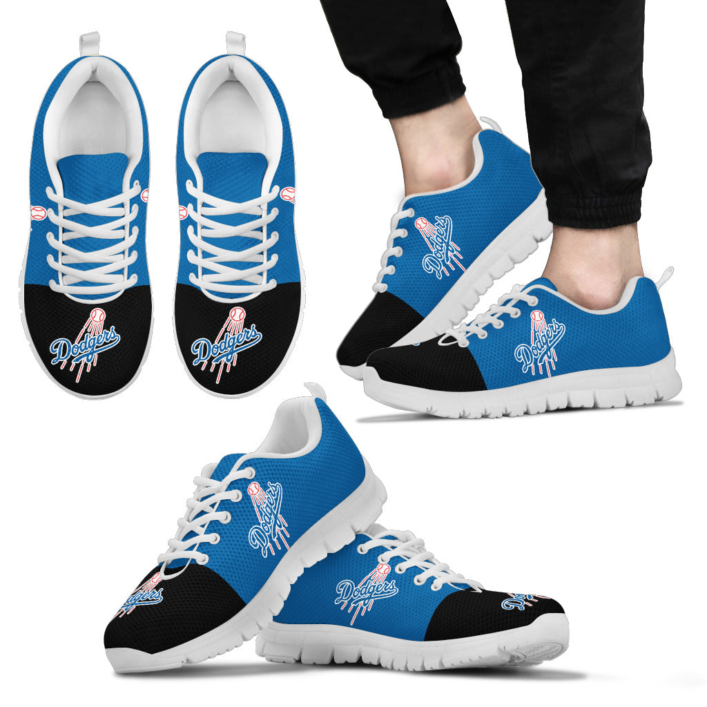 Two Colors Aparted Los Angeles Dodgers Sneakers