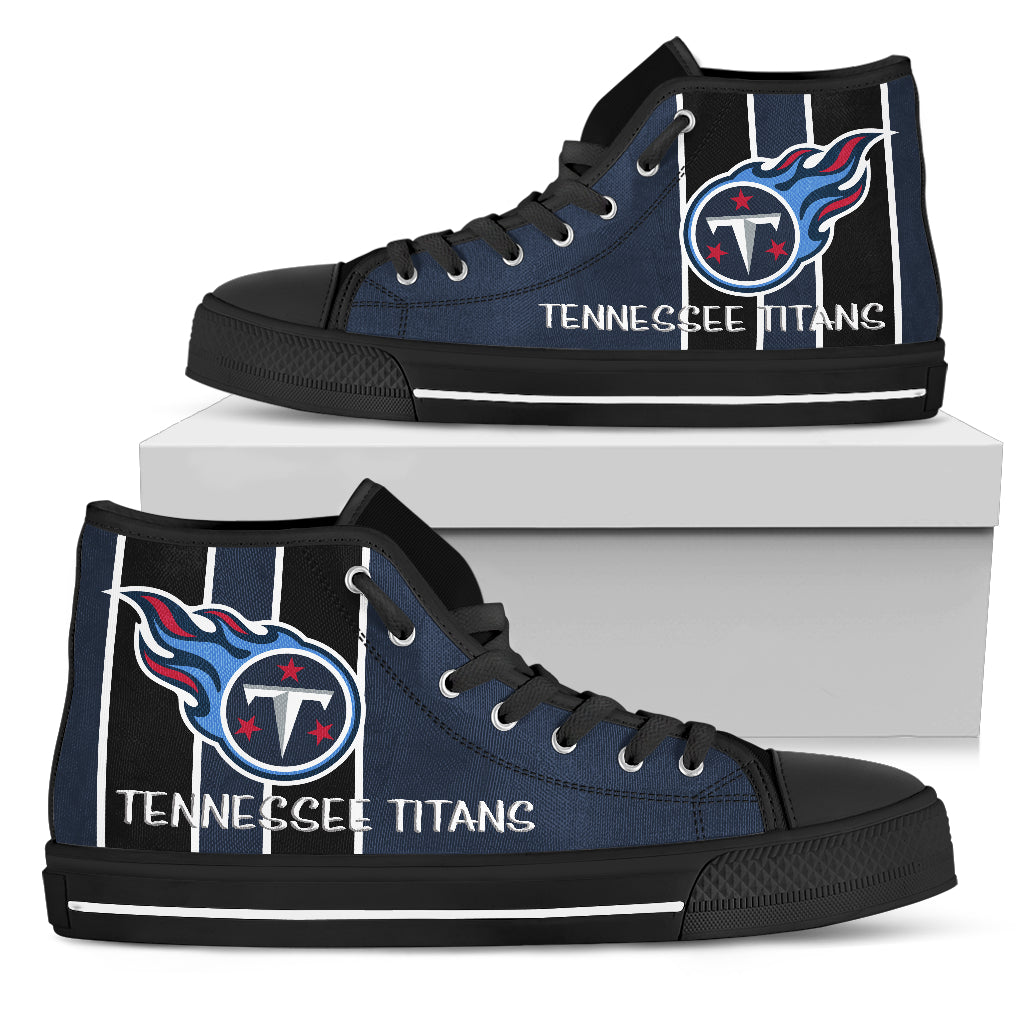 Wholesale Steaky Trending Fashion Sporty Tennessee Titans High Top Shoes  for sale