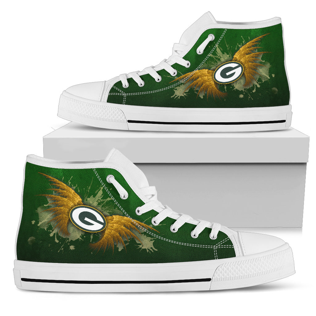 Angel Wings Green Bay Packers High Top Shoes