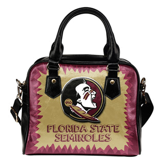 Jagged Saws Mouth Creepy Florida State Seminoles Shoulder Handbags