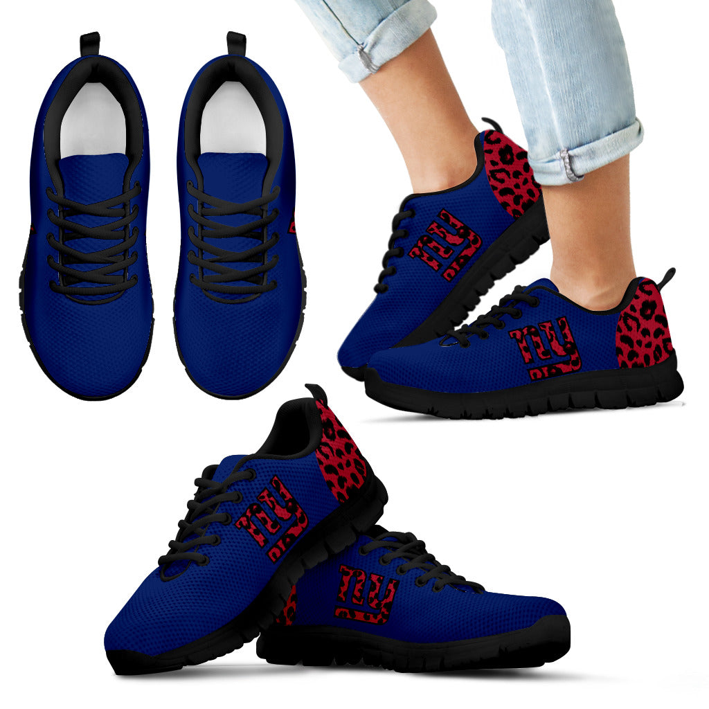 Cheetah Pattern Fabulous New York Giants Sneakers