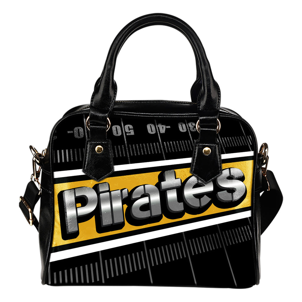 Pittsburgh Pirates Silver Name Colorful Shoulder Handbags