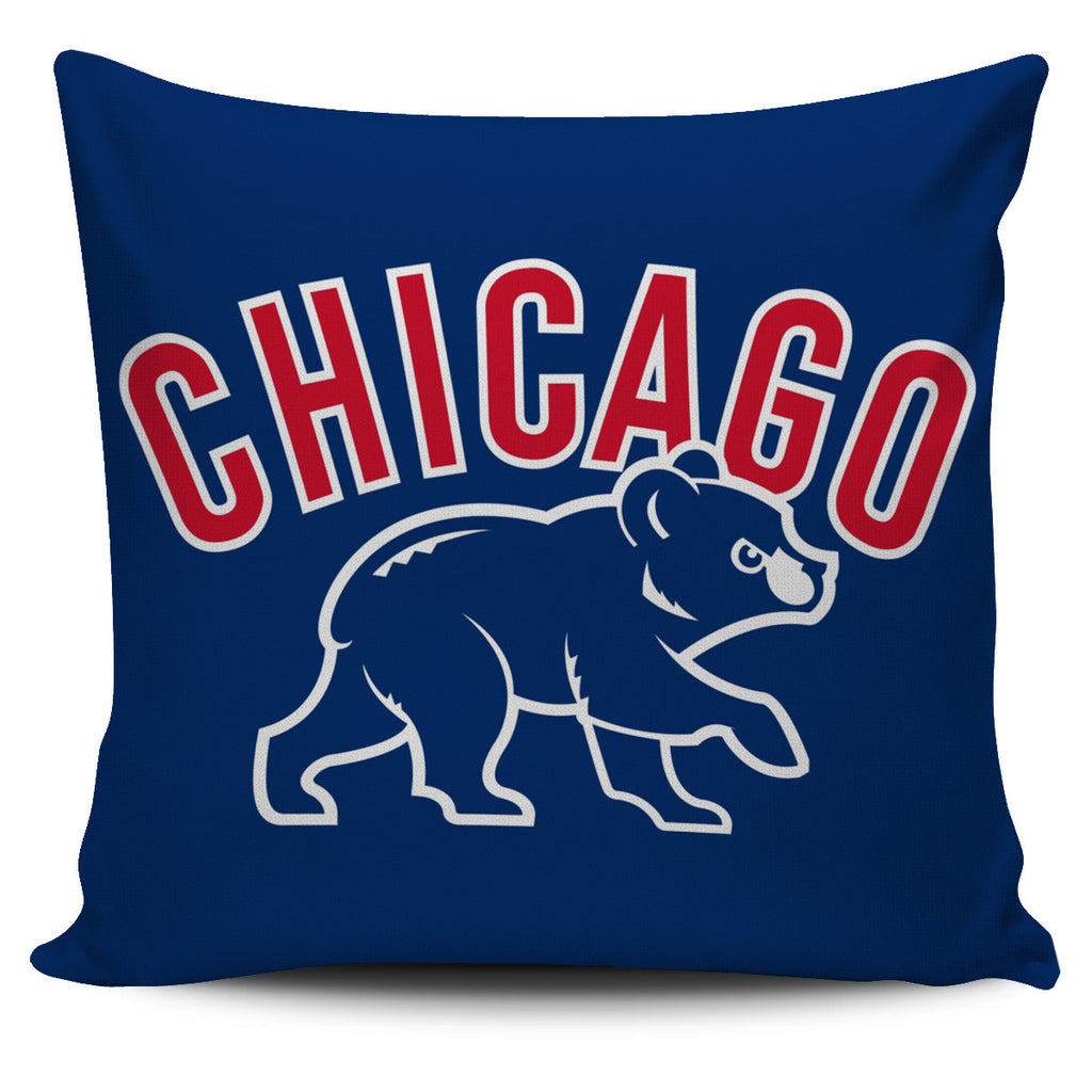 Chicago Cubs Baseball Pillow Covers
