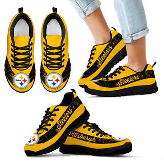 Single Line Logo Pittsburgh Steelers Sneakers