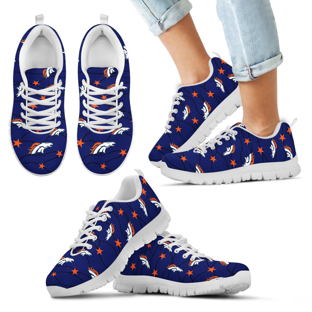 Star Twinkle Night Denver Broncos Sneakers