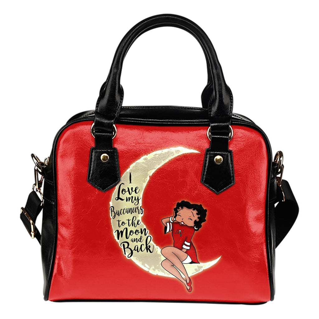 BB I Love My Tampa Bay Buccaneers To The Moon And Back Shoulder Handbags Women Purse