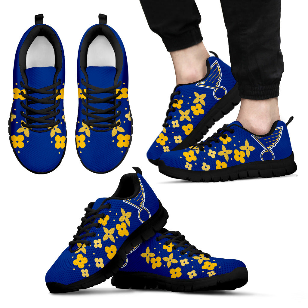 Flowers Pattern St. Louis Blues Sneakers