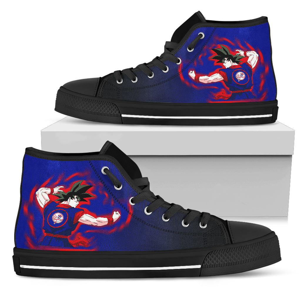New York Yankees Goku Saiyan Power High Top Shoes