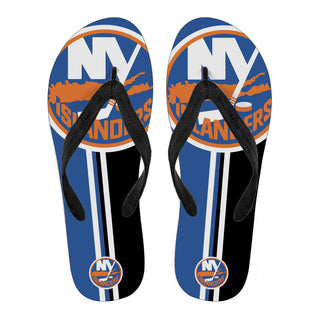 New York Islanders Fan Gift Two Main Colors Flip Flops