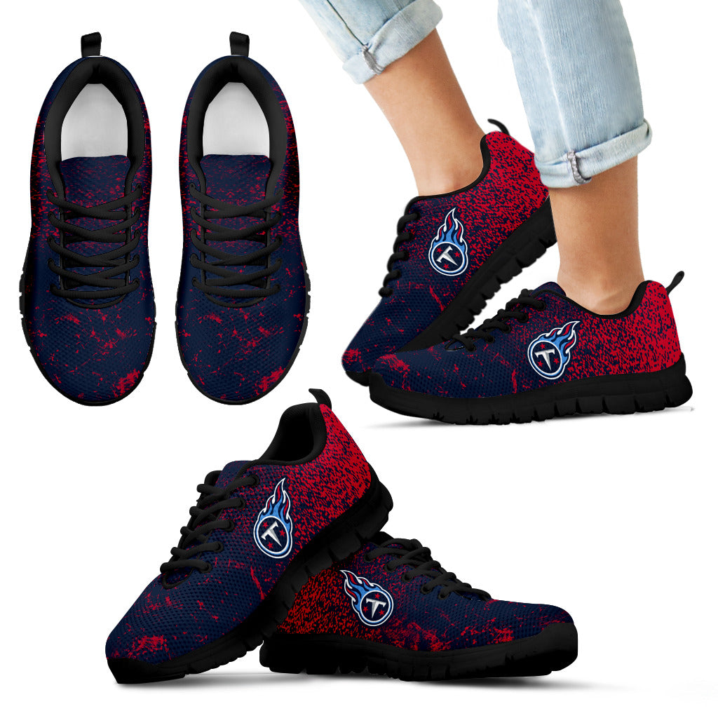 Wholesale Light Tiny Pixel Smashing Pieces Tennessee Titans Sneakers  for sale