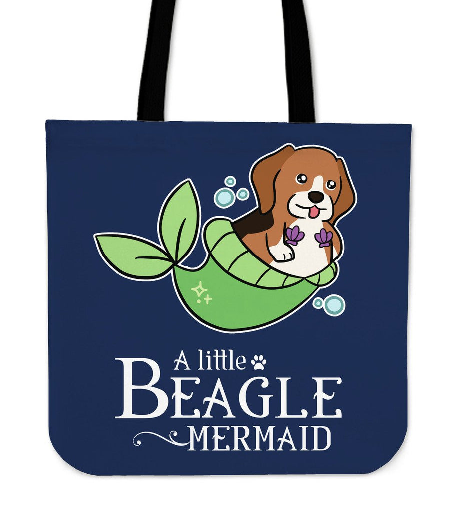 A Little Beagle Mermaid Tote Bag