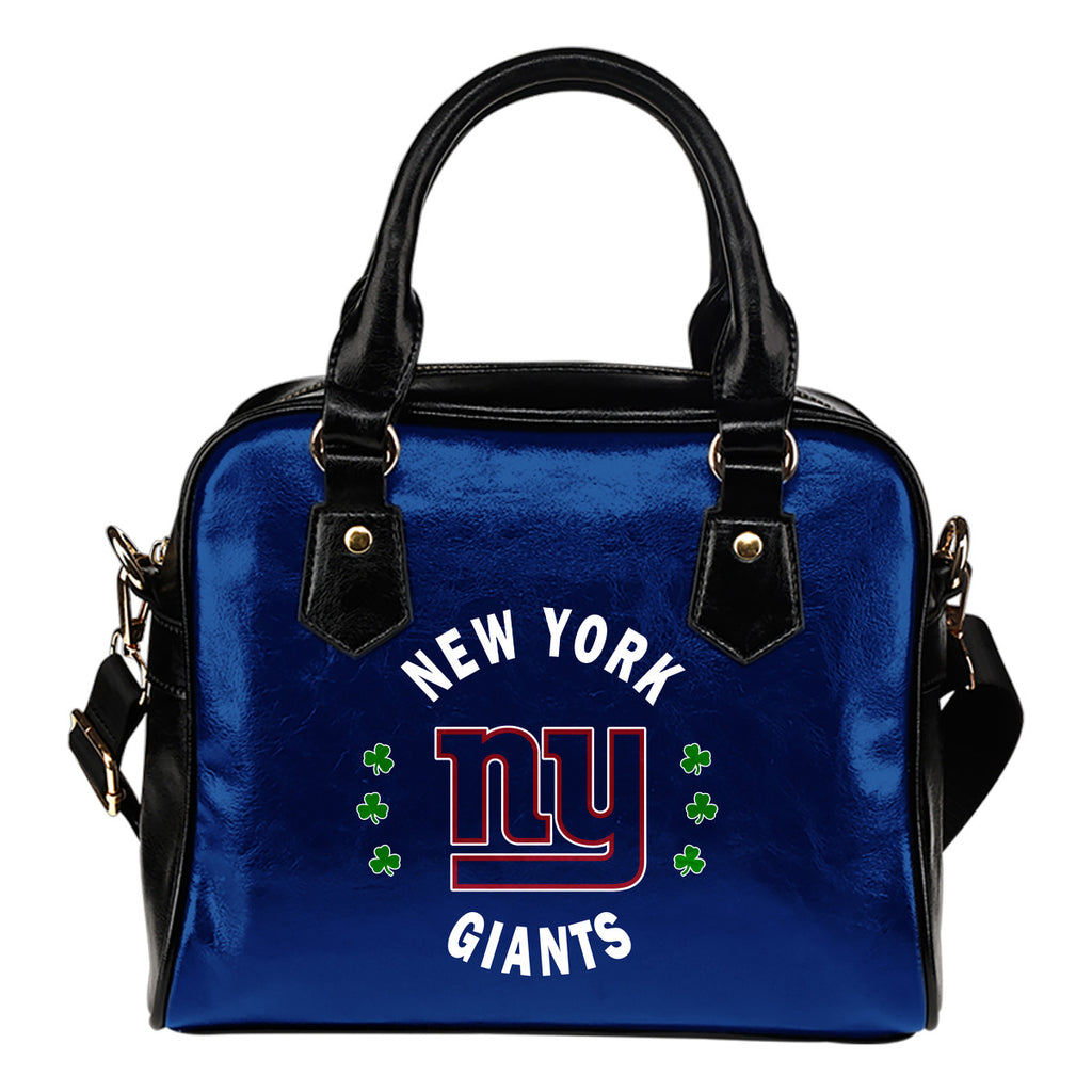 Central Beautiful Logo Circle Lucky Leaf New York Giants Shoulder Handbags