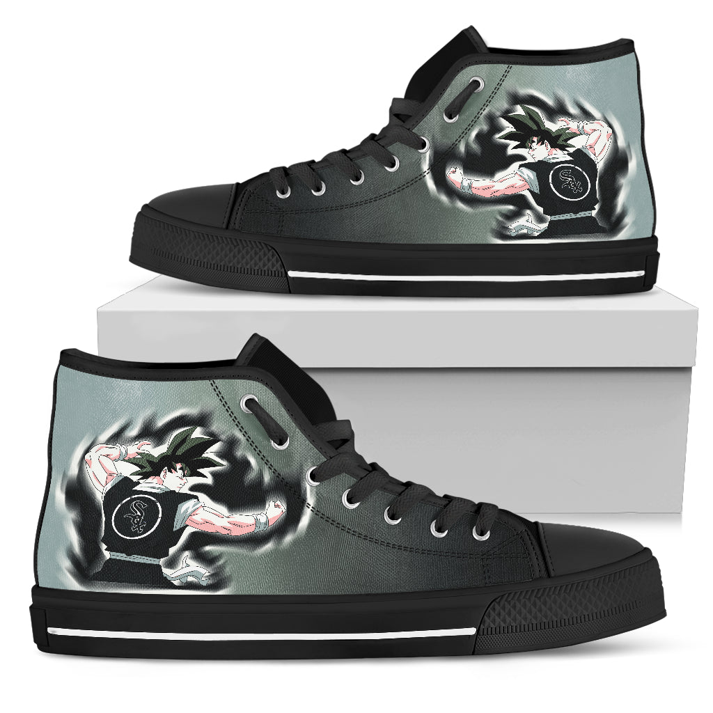 Chicago White Sox Goku Saiyan Power High Top Shoes