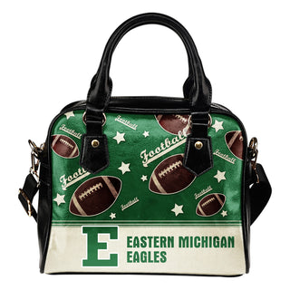 Personalized American Football Awesome Eastern Michigan Eagles Shoulder Handbag