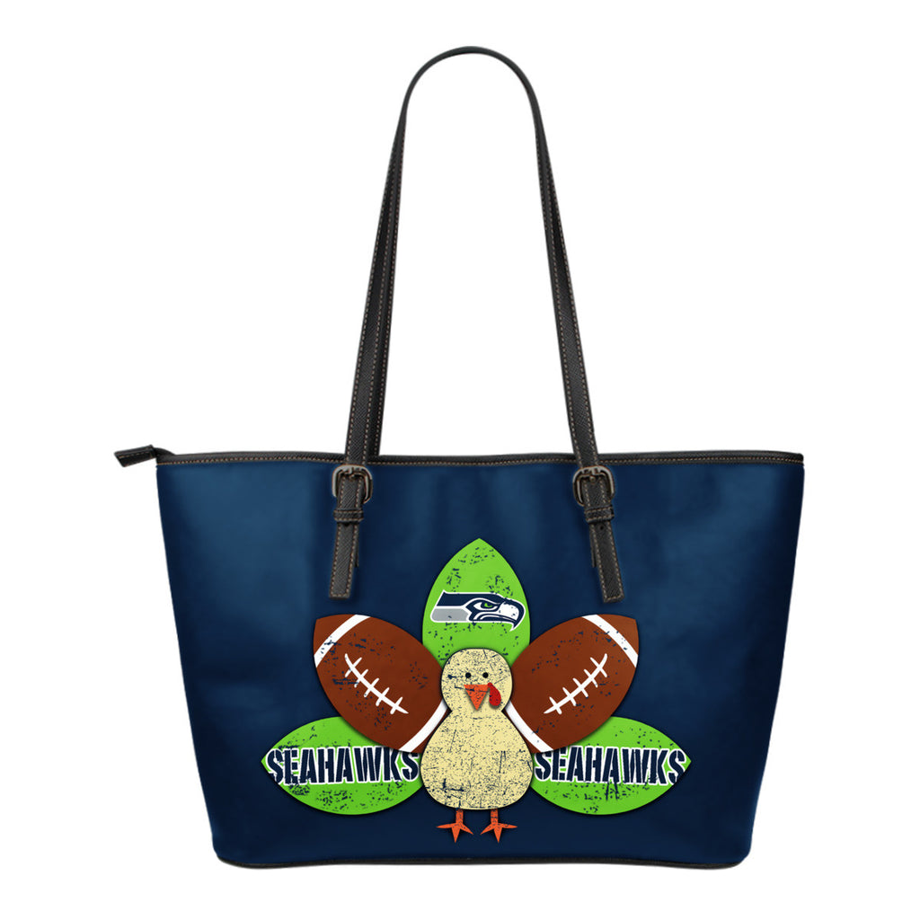 Thanksgiving Seattle Seahawks Leather Bags - Best Funny Store