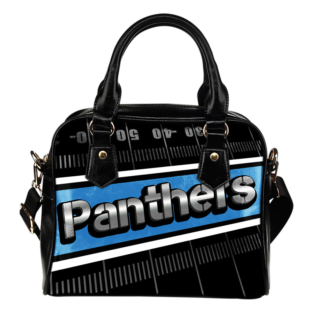 Carolina Panthers Silver Name Colorful Shoulder Handbags