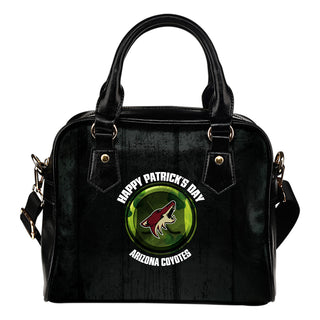 Retro Scene Lovely Shining Patrick's Day Arizona Coyotes Shoulder Handbags