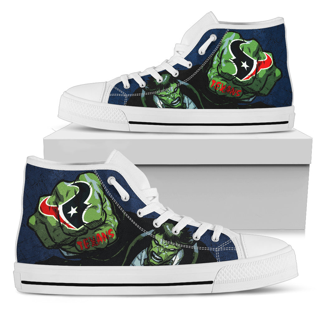 Hulk Punch Houston Texans High Top Shoes