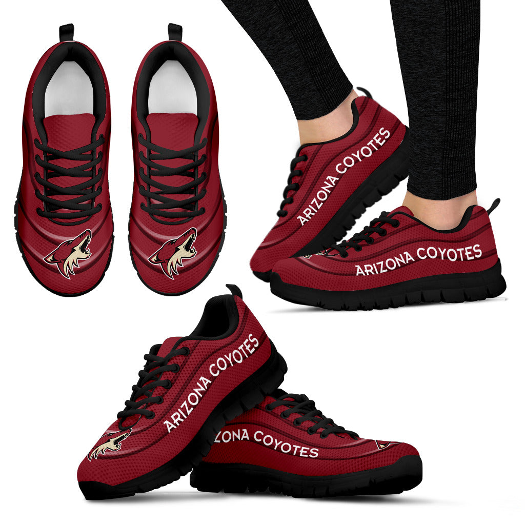 Wave Red Floating Pattern Arizona Coyotes Sneakers